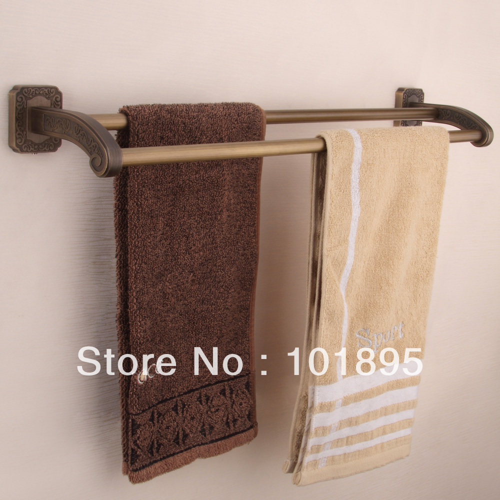 ФОТО Retail- Luxury Brass Towel Bar, Double Tier Towel Bar, Bronze Finish Towel Holder Wall Mounted, Free Shipping X16005B