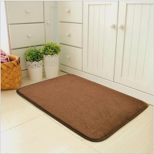 Bathroom Rug Non Slip Door Mat Soft Shag Bath Rug Water Absorbent Bathroom Carpet Machine Washable Bathroom Rug with