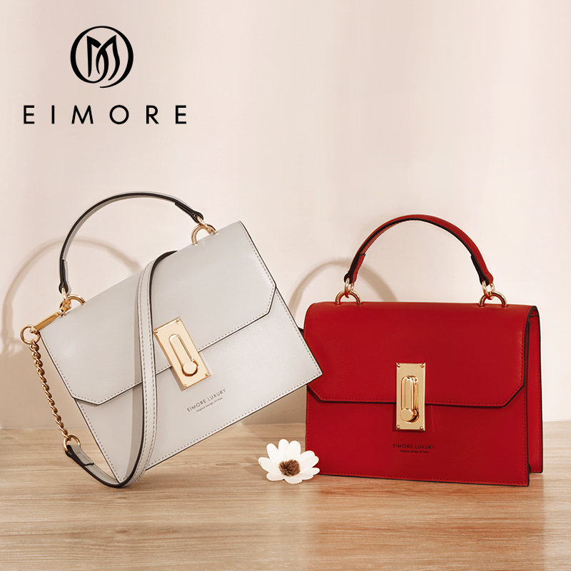 Eimore Brand Women Handbags Genuine Leather Small Ladies Shoulder messenger Bags Female Anti- theft Lock Crossbody bag for Women eimore brand genuine leather handbags women small simple tote bag luxury fashion ladies classic pattern leather shoulder bags