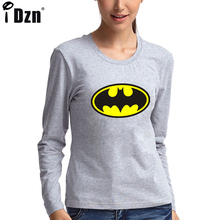 Special Design Long Sleeve Funny T-shirt Women DC Comics Classic T Shirts Girl Brand Geat Deals Cotton Printed Tees Tops