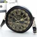 2017 New Brand Clock Print Women Messenger Bag Ladies Shoulder Crossbody Bag For Women Bolsas Solid Women Leather Handbags A1664