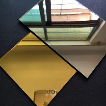 100pcs Acrylic Mirror 100x200x2mm Wall Tiles Home Decor Shower miroir mural Plastic Pier Decorative Lens  Custom Arbitrary Shape
