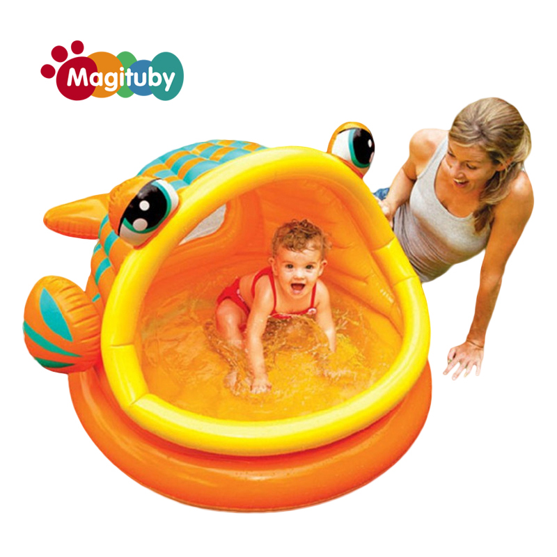 Fish Open Mouth PVC Kids Baby Inflatable Fashion Play Swimming Pool Piscina Children Kids Large Water Accessory S7003 381cm eco friendly pvc kids baby inflatable slide play swimming pool piscina children kids large swim boat s7010