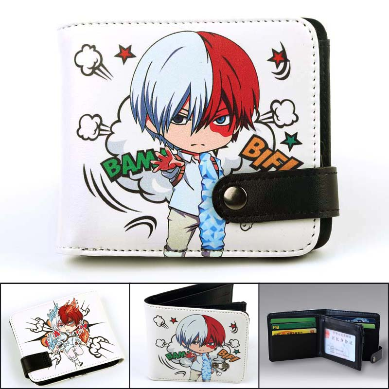 Anime My Hero Academia Synthetic Leather Wallet Todoroki Shoto Card Holder Purse With Coin Pocket