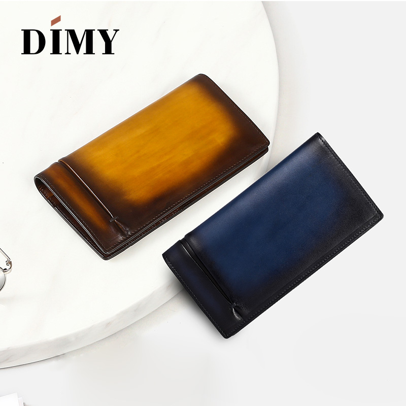 Dimy Vintage Man Wallets Leather Coin Card Holder Concise Money Bag Letter Hand Patina Card Purse Fashion Male Long HandbagsDimy Vintage Man Wallets Leather Coin Card Holder Concise Money Bag Letter Hand Patina Card Purse Fashion Male Long Handbags