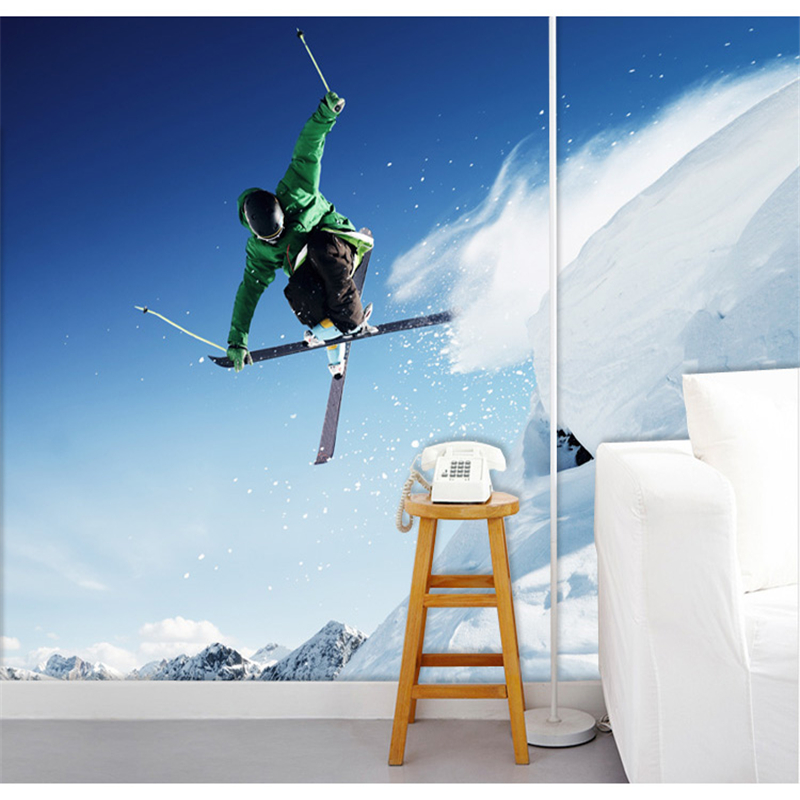 beibehang A large mural papel de parede wallpaper Videos Hotel bar extreme skiing wallpaper for walls 3 d theme ktv backdrop large mural wallpaper wallpaper theme hotel theme hotel bar club star monroe ktv