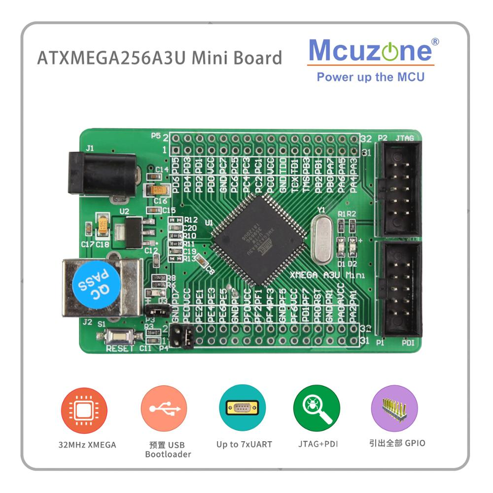 ATxmega256A3U Mini Board USB PROGRAM PDI JTAG AVR Board Atmel Xmgea256A3 U MCU IC 256A3U