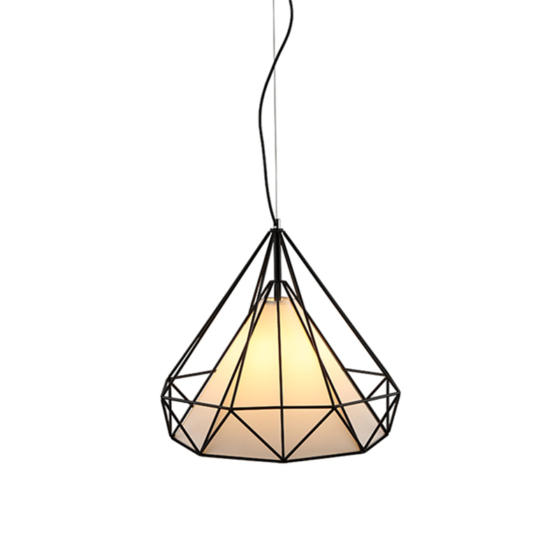 NEW Vintage Iron Cloth Pendant Light Industrial Retro Droplight Bar Cafe Bedroom Restaurant Nordic Modern Style Hanging Lamp bird cage design vintage industrial lighting lamps pendant light for home modern restaurant cafe bar bathroom black droplight