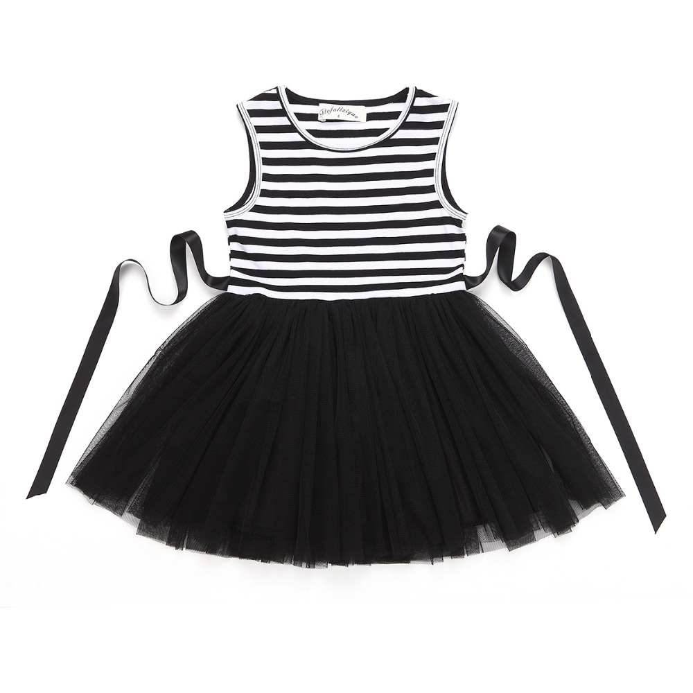 HTB17txXRXXXXXbMXXXXq6xXFXXXW - Baby Girls Dress 2017 Summer Casual Striped Princess Dresses sleeveless Black and White Stripes Mesh Dress Children Clothing