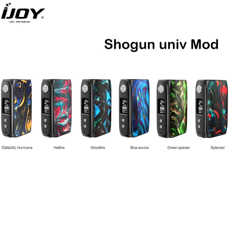 Original IJOY Shogun Univ Mod 180 W puissance POD boîte MOD Vape Support KATANA SUBOHM réservoir E Cigarette Mod Kit de vapeur