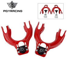 PQY - Adjustable (L&R) Front Upper Control Arm Camber Kit For HONDA CIVIC EG 92-95 RED FRONT UPPER CAMBER ARM KIT PQY9872R