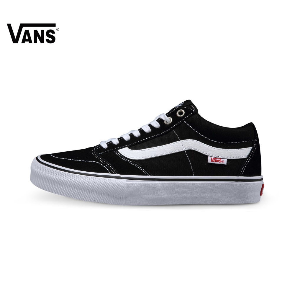 купить Original Vans Black Color Low-Top Men's Skateboarding Shoes Sport Shoes Vans Sneakers по цене 5666.91 рублей