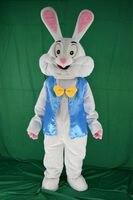 2017 new coelhinho da páscoa do traje da mascote fancy dress animais engraçados bugs bunny mascote adulto tamanho do traje da mascote do coelho