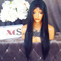 High Density 200 Density Full Lace Wig Natural Virgin Color Unprocessed Brazilian Human Hair Silk Straight 200% Lace Front Wigs