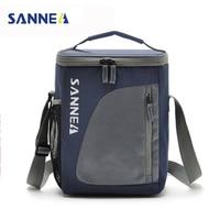 SANNE 8.8L Kühler Tragbare Isolierte Mittagessen Tasche Nylon Thermische Lunchbox Lebensmittel Männer Picinic Tasche Tote Handtaschen bolsa almuerzo Rosa