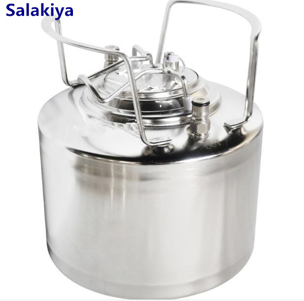 9L Mini Beer Tank, Brew Beer Keg,Sanitary Stainless Steel 304 1 25 sanitary stainless steel ss304 y type filter strainer f beer dairy pharmaceutical beverag chemical industry