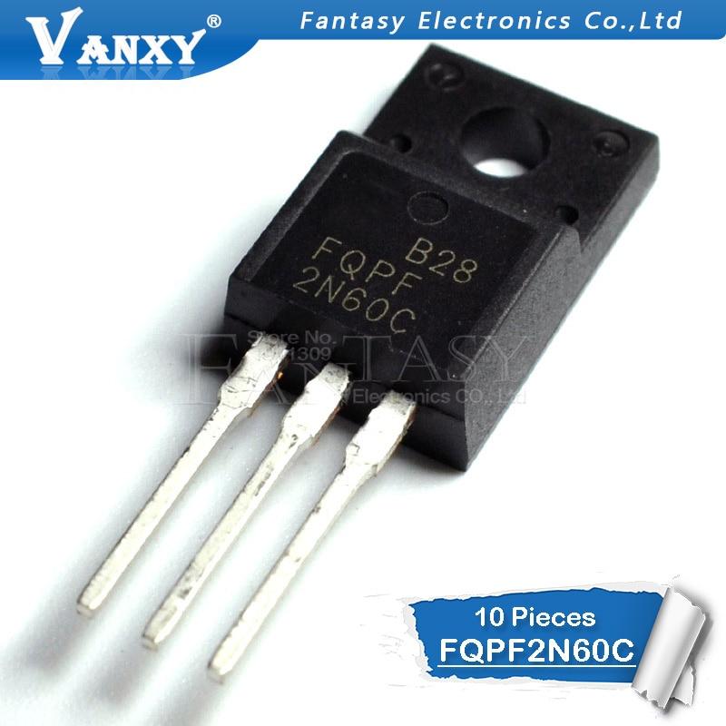 10PCS FQPF2N60C TO-220f 2N60C 2N60 TO220 FQPF2N60 TO-220 New MOS FET Transistor