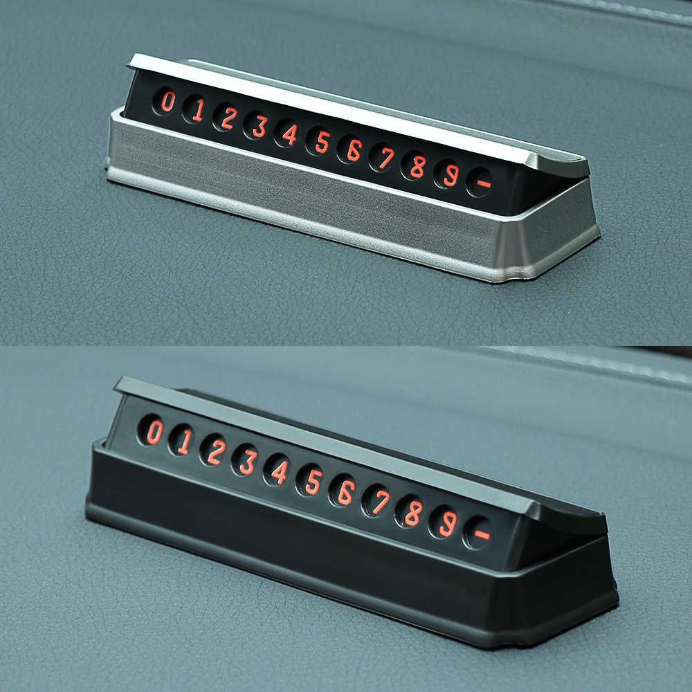 Coche temporal tarjeta de estacionamiento para Peugeot 307, 206, 407, 3008 Citroen C4 C5 Honda Civic acuerdo CRV Lada Vesta auto accesorios