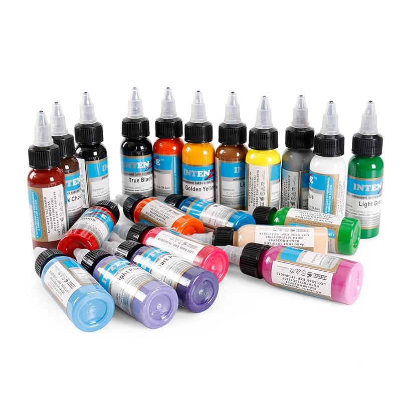 21 farbe Set Tattoo Tinte Pigmento Microblading Permanent Make-Up Kunst Boay Farbe Farbe Kosmetische Tattoo Farbe Für Schönheit Körper Kunst