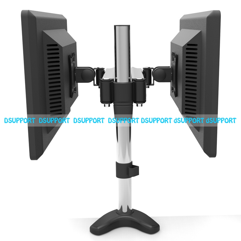 Aluminum Alloy Desktop Clamping Full Motion Dual Screen LED LCD Monitor Holder 360 Rotation Dual Monitor Support Desktop Stand