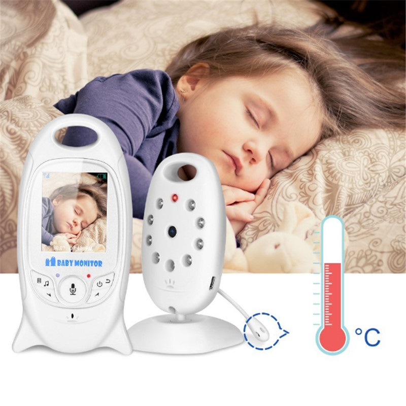 Babykam baby alarm bebek telsiz kamera 2.0 inch IR night vision Temperature monitor Lullabies Baby Intercom niania elektroniczna wireless baby monitor vb601 with camera for the night vision bebek telsiz telsizleri babyfoon met babyphone video detector