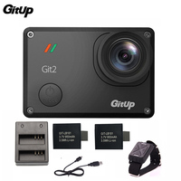Gitup Git2 Pro 2K 30fps 1080P Sports Action Camera Waterproof Wifi Remote Outdoor Cam Dual Battery