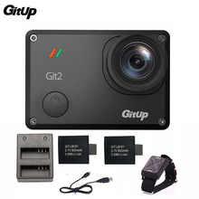 Gitup Git2 Pro 2K 30fps 1080P  Sports Action Camera Waterproof Wifi remote Outdoor Cam +Dual Battery Charger+ 2Pcs Extra Battery
