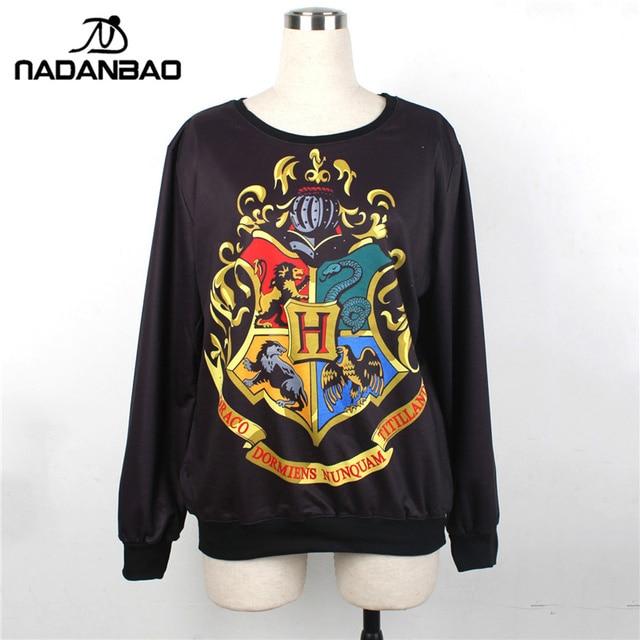 NADANBAO Knitted 3D Harry Potter Hogwarts sweatshirt sudaderas woman / man Hoodies Sweatshirts For moletom Women Clothing