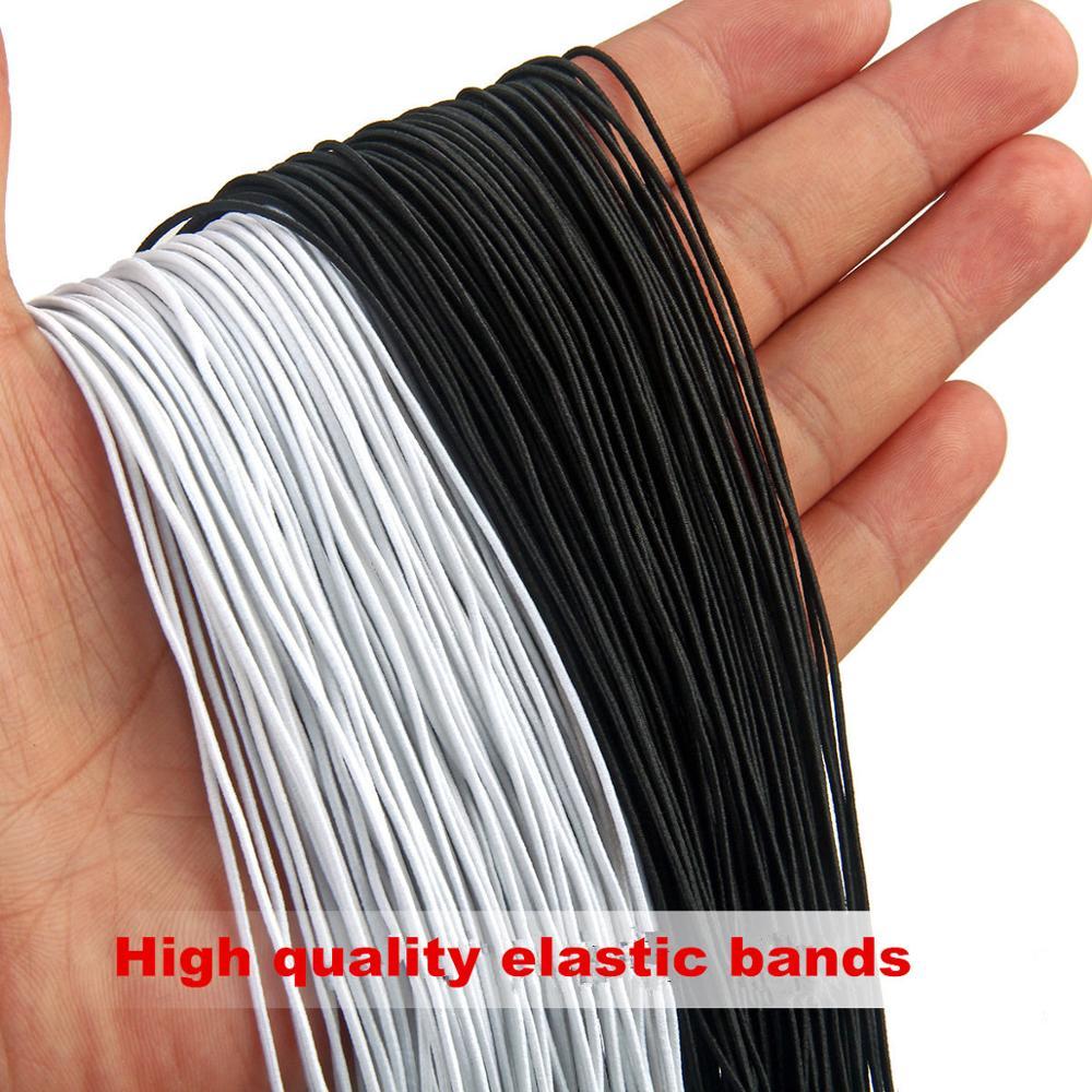 5meters Black Multi Size 1/1.5/2/2.5/3/4mm Mask Round Elastic Band Elastic Rope Rubber Band Elastic Line DIY Sewing Accessories