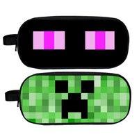 Bande dessinée Minecraft Crayon Cas D'école Double Couche Fermeture Éclair de Grande Capacité Sac de Stylo Crayon Boîte Pencilcase pour Enfants Papeterie