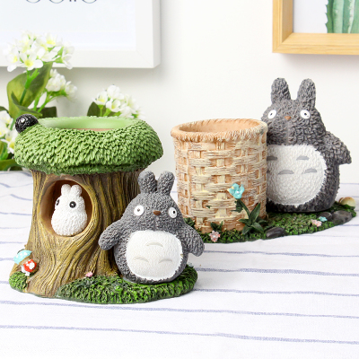 Totoro Kawaii Desk Pen Holder Cute Pencil Holder Office Desk