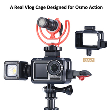 Ulanzi OA-7 Vlog Case for Dji Osmo Action with Dual Cold Shoe Mount Microphone Photographic Lighting Add Gift