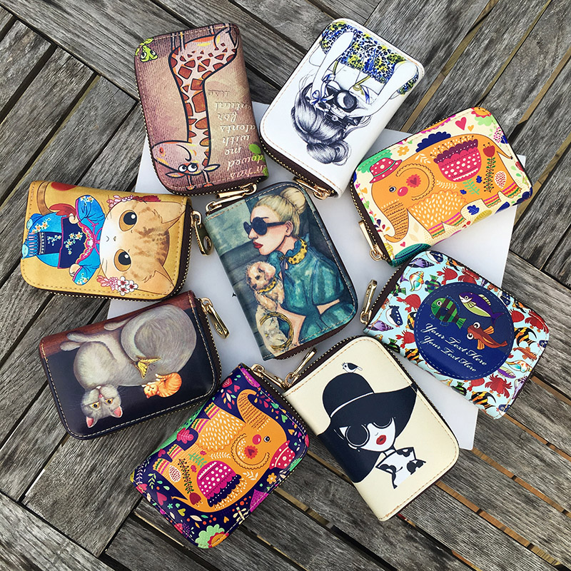 2017 Sale Top Unisex Passport Cover Holder A Small Bag Of Female Organ Zipper Leather Wallet Mini Stamp Korea Cute Bank Card