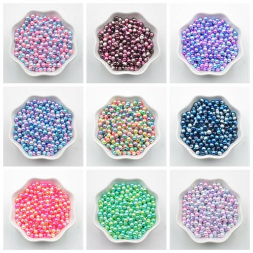 Новый 300 шт. 3 мм многоцветные нет отверстий жемчужина DIY 3d ногтей Книги по искусству изготовления ювелирных изделий, бисер R30