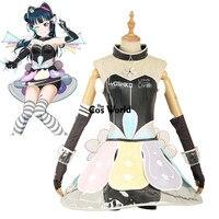 Love Live Sunshine Aqours Tsushima Yoshiko Cyber Video Games Tee Tube Top Dress Uniform Outfit Anime Cosplay Costumes