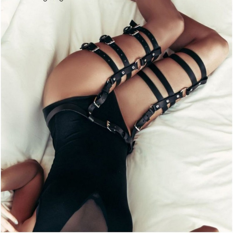 Garters Sword Belt Bdsm 2019 New Sexy Holographic Fetish Gothic Set Bondage Sweater On The Body Lingerie Bdsm For Women Black in Garters from Underwear Sleepwears
