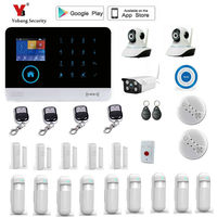 Yobang безопасность wifi Gsm сенсорная клавиатура сигнализация система wifi + GSM wifi Автоматизация GSM сигнализация система домашней защиты wifi GSM сигна