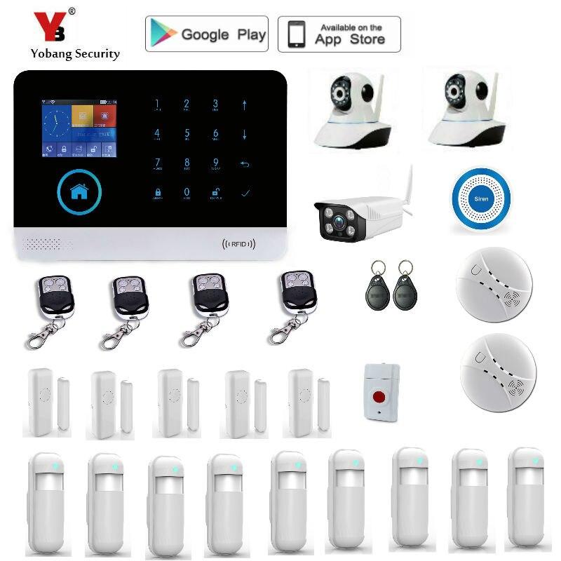 Yobang Security WIFI Gsm Della Tastiera di Tocco Automazione Sistema di Allarme WIFI + GSM Wifi GSM Sistema di Allarme di Protezione WIFI GSM allarme