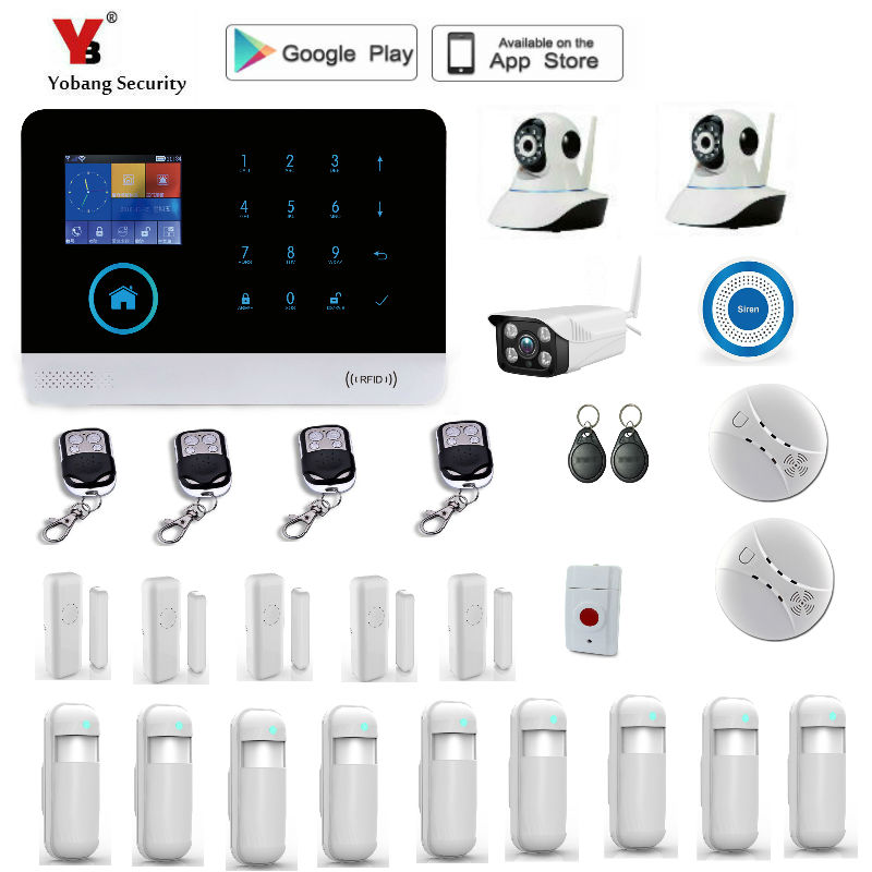Yobang Security WIFI Gsm Touch Keypad Alarm System WIFI+GSM Wifi Automation GSM Alarm System Home Protection WIFI GSM Alarm купить в Москве 2019