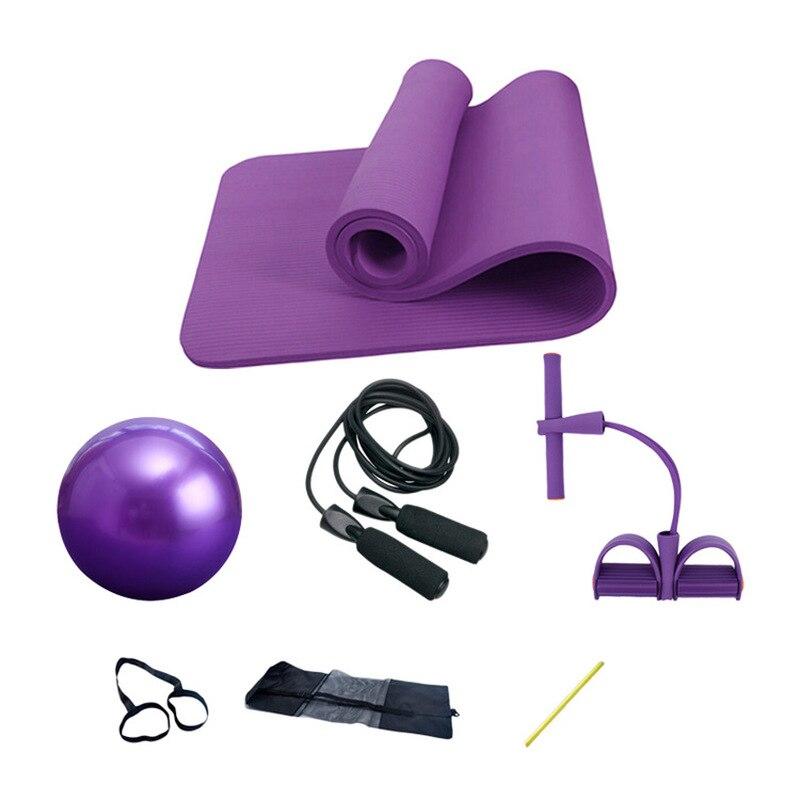 ★  3 4 предмета - набор для йоги или пилатеса - коврик для йоги толщиной 10 мм  резиновый шарик 25 см   ①