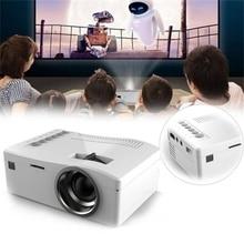 2017 de alta calidad de 500: 1 1080 P HD LED Home MulitMedia Teatro Cine USB TV VGA SD HDMI Mini Proyector simple y fácil de operar