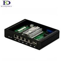 2017 Лидер продаж Безвентиляторный Mini ITX ПК Intel Celeron J1900 Quad Core 4 * lan 1 * VGA крошечный ПК