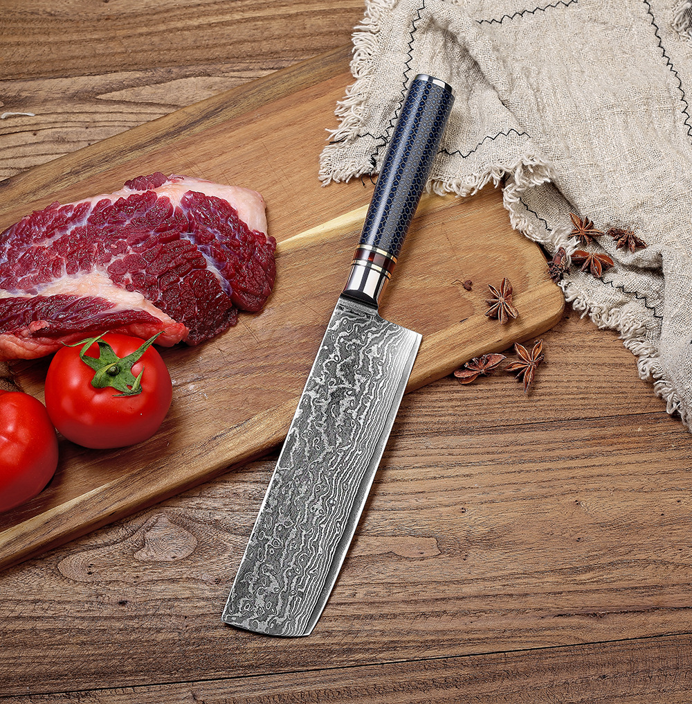 Damascus light and small kitchen knife with resin handle household kitchen knife for slicing Japanese style vegetables knife in Kitchen Knives from Home Garden