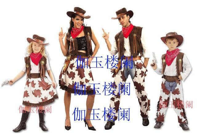 Fabuloso Casais roupas de cowboy, Saia jeans, Halloween conjunto adulto  MP12