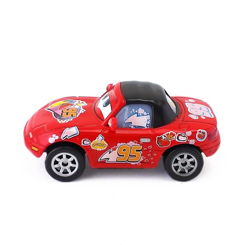 Disney Pixar Cars Lightning Mcqueen Fans Red Metal Diecast Toy Car 1