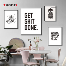 Modern Fun Bathroom Decorative Posters Prints Black And White Canvas Painting On The Wall Decoration For House Nordic Art