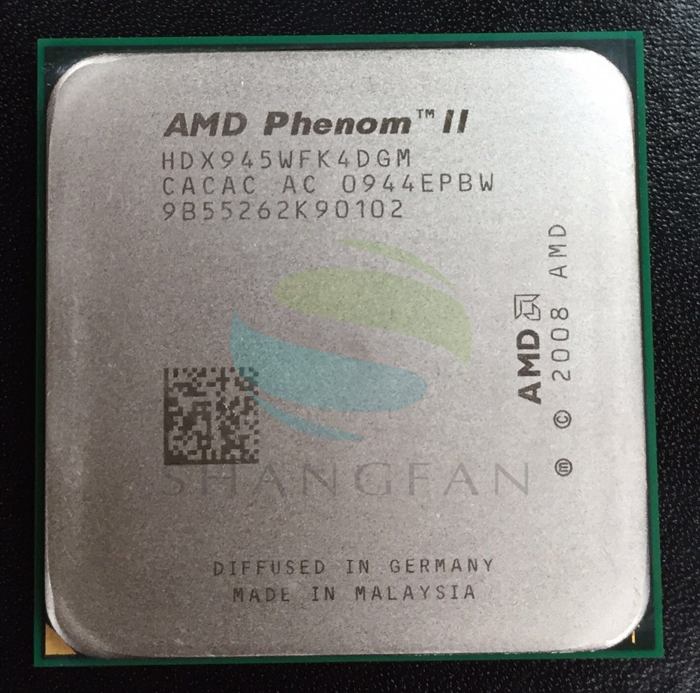 AMD Phenom X4 945 X4-945 Quad-Core DeskTop CPU HDX945WFK4DGM  Socket AM3 desktop cpu 754 socket tester cpu socket analyzer dummy load fake load with led