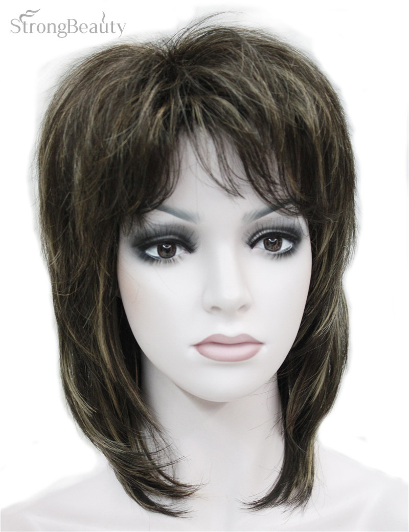 Strong Beauty Synthetic Medium Length Body Wave Wigs Women s Full Capless Wig