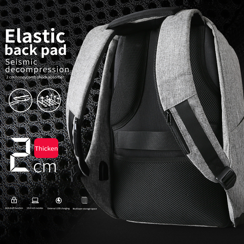 Laptop Backpack w/ USB charging & Anti Theft 4