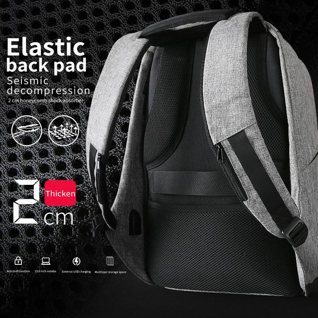 Batoh pre notebook 15inch 37cm iPad Multifunkčné nabíjanie USB Móda Voľný čas Travel batoh ochrana proti zlodejom Batoh proti zlodejom